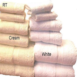Luxury 6-Pc Egyptian Cotton Lace Trim Towel Set.lace-6pc(RPT