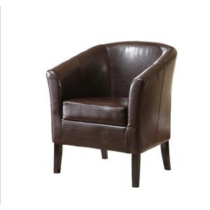 Simon Brown Club Chair 36077BRN-01-AS-U (LN)