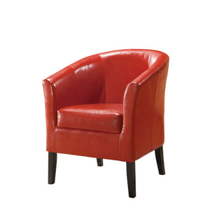 Simon Red Club Chair 36077RED-01-AS-U (LN)
