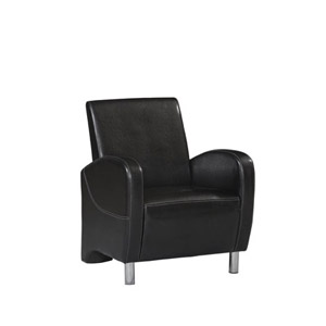 Art Deco Black Club Chair 36078BLK-01-AS-U (LN)