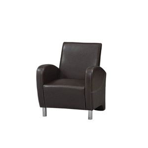 Art Deco Brown Club Chair 36078BRN-01-AS-U (LN)