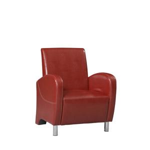 Art Deco Red Club Chair 36078RED-01-AS-U (LN)