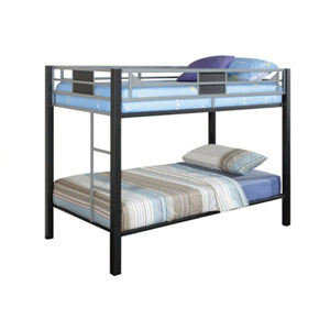 Metal Bunk Bed Black With Silver 89000MTL(LNFS)
