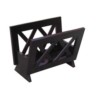 Contemporary Mahogany Solid Wood Magazine Rack M1125 (OD)