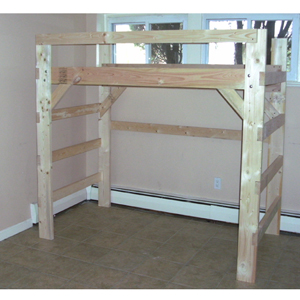 The Manhattan Solid Wood Loft Bed 1000 Lbs Wt. Capacity