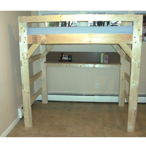 Heavy duty solid wood custom made triple bunk bed usm for Furniture xo out of business