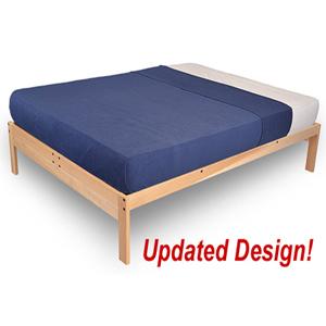 nomad platform bed unfinished 79 kdfs. Black Bedroom Furniture Sets. Home Design Ideas