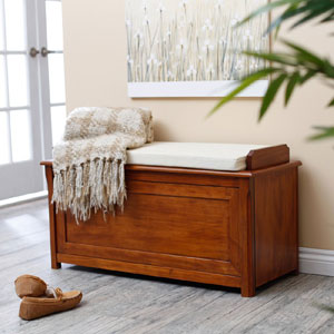 Cedar Chest Mission Bench with Cushion (AZFS)