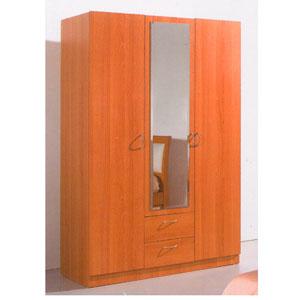 3 Door Wardrobe w/Mirror B76W2 (PK)