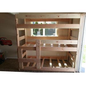 The Premier Heavy Duty Solid Wood Triple Bunk Bed (USM)