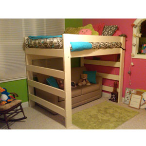 The Premier Solid Wood Adult Loft Bed 1000 Lbs Wt. Capacity