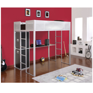 Rock and Roll Full Size Study Loft Bunk Bed (PW)