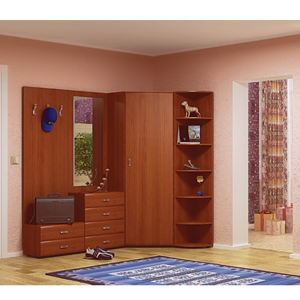 Stella 4 PC Corner Hall Unit in Cherry (ACEFS)