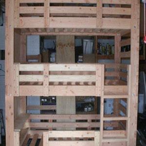 Solid Wood Custom Made Adult Triple Bunk Bed (USM)