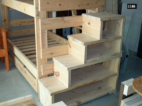Free Bunk Bed With Stairs Building Plans